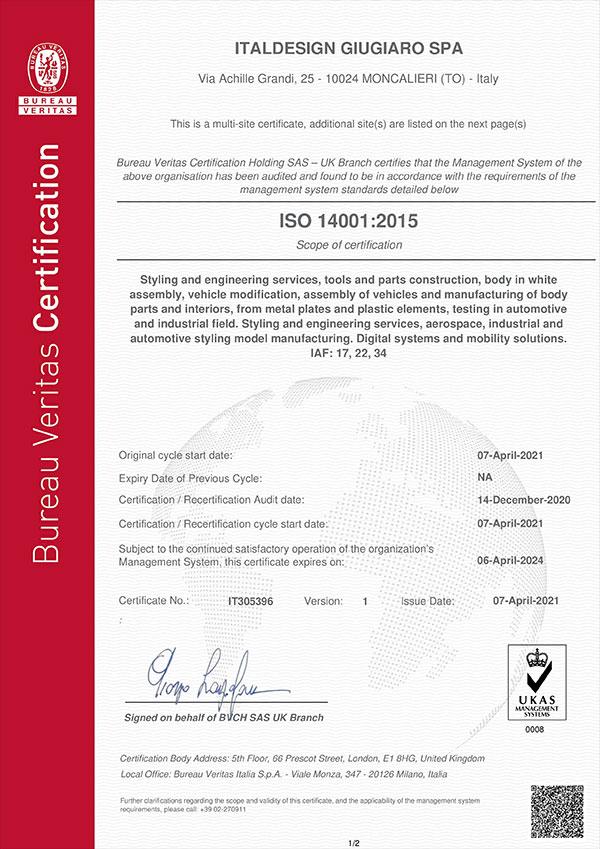Certificate IT305396 Item 1-6WE1Y8S