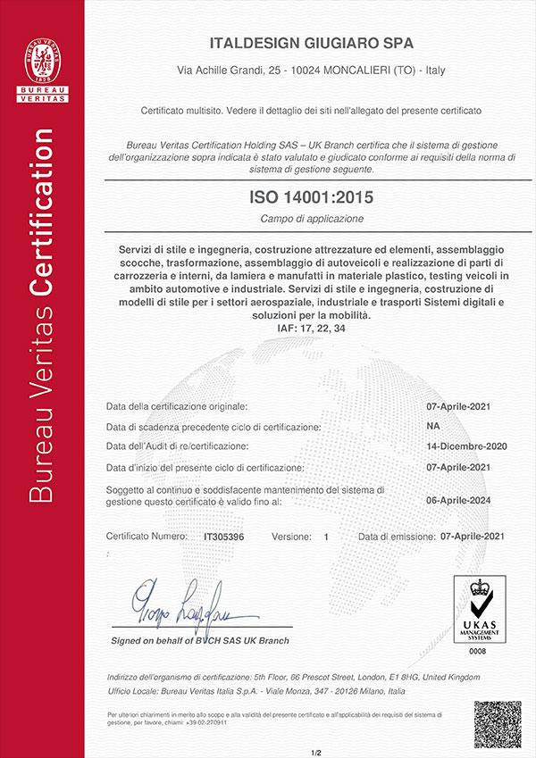 Certificate IT305396 Item 1-6WE1Y8V