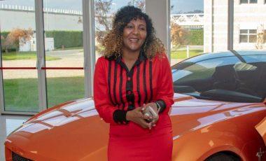 Ndelka Mandela visits Italdesign headquarters